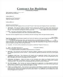 Free Contract Templates Premium Building Sample Template Work Con ...