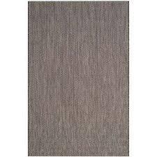 courtyard black beige 9 ft x 12 ft indoor outdoor area rug