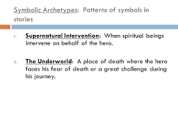 what does it mean to be a hero archetypes in literature ppt  11 symbolic