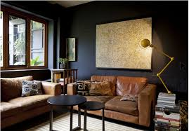 gray wall brown furniture. Impulsive Decorating: Our Black Living Room Wall | Vintage Furniture, Rooms And Spaces Gray Brown Furniture