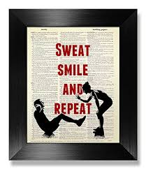 Sweat Smile and Repeat, Gym Poster, Workout Poster ... - Amazon.com