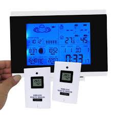 digital thermometer barometer wireless weather station moonphase rcc 2 sensor