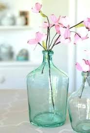 recycled glass jug glass jug vase aqua glass vase demijohn terrarium recycled glass jug vase recycled glass jugs uk