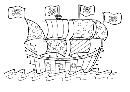23 Coloring Pages Pirate Ship Pirate Ship Coloring Page Az