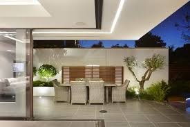 Small Picture boundary wall design landscape contemporary with lighting modern