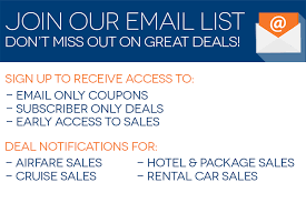 Join Our E-mail List | Travelocity