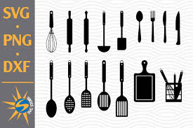 Available in png and vector. Kitchen Tools Silhouette Graphic By Svgstoreshop Creative Fabrica
