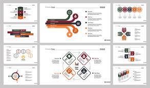 Conjunto De Diez Diapositivas Empresariales Descargar Vectores Gratis