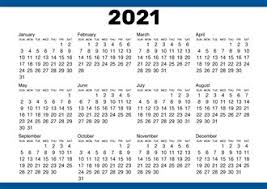 Free Printable 2021 Calendars Creative Center
