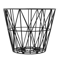 ferm living wire basket large tilbud. ferm living wire baskets black truce living basket large tilbud
