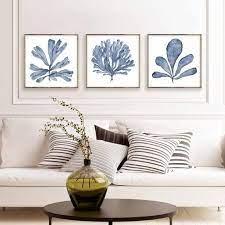 square wall art set of 3 prints digital
