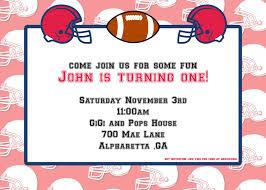 Free Football Invitation Templates Free American Football Invitation Template Free Invitation