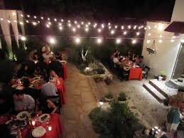 outdoor strand lighting. Pro Portfolio: After Backyard Makeover, The Party Moves Outdoors Outdoor Strand Lighting