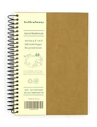 Amazon.com : Small <b>Spiral Notebook</b>, 240 Lined Pages, <b>A6</b> Size ...