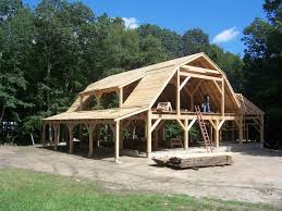 cordwood frame with gambrel roof like the structure design of barn house plans within regar barn