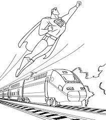 Get hold of these colouring sheets that are full of superman images and offer them to your kid. Best Superman Flying With Train Background Coloring Page Mitraland