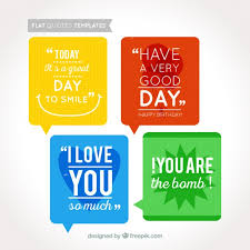 Coloured Quotes Templates Vector Free Download