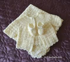 Free Crochet Baby Sweater Patterns Mesmerizing Crochet Baby Sweater Set Pattern Wwwtopsimages