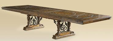 luxury dining room furniture table with stone inlay top