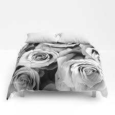 roses comforter black white bedding