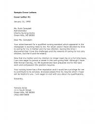 Sample Application Letter For Nursing Aide Without Experience