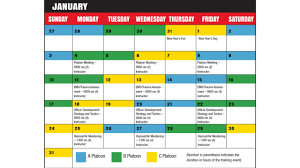 Safety Training Calendar Template - April.onthemarch.co