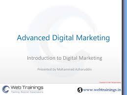 Web Trainings Academy Digital Marketing Ppt Presentation Digital
