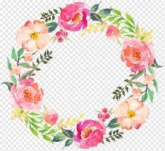 Template bunga coklat dan merah muda, bingkai bunga lingkaran, bingkai bunga bulat, lukisan cat air, ungu, bingkai png. Menggambar Karangan Bunga Bundar 05 Cat Air Karangan Bunga Bulat Png Pngwing