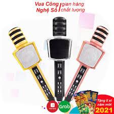 Micro không dây karaoke bluetooth SD-17, Mic kèm loa âm thanh sống động, nhỏ  gọn, dễ sử dụng tại Hà Nội