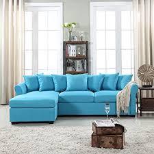 Amazoncom Divano Roma Furniture Modern Large Linen Fabric