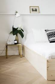 if you want a luxe look this upholstered bed frame tutorial from the handy homemaker is for you lots of photos make this tutorial a no fail project
