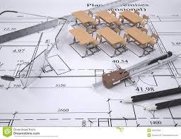 Drawing The Arrangement Furniture Stock Illustration Image