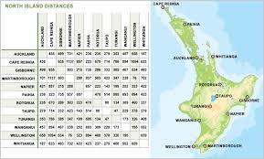 New Zealand Travel Distances Guest New Zealand