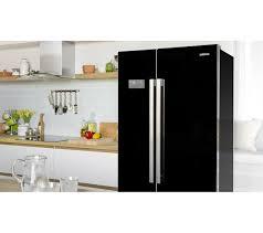 asl141b american style fridge freezer black