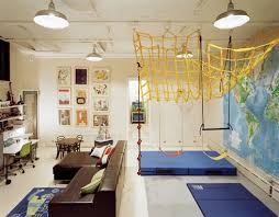 Image Basement Remodel Gym Mats Full Wall World Map Climbing Net Swings Rope Ladder Study Area Art Wall And Those Vintage Industrial Lights Pinterest Gym Mats Full Wall World Map Climbing Net Swings Rope Ladder