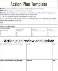 Action Plan Template For Employee Example1 Action Plan