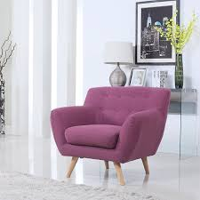Living Room Purple Amazoncom Mid Century Purple Modern Living Room Accent Armchair
