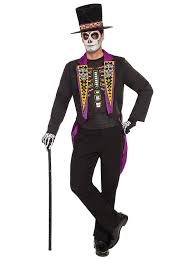 Light Up Bow Tie Party City Day Of The Dead Formal Mens Costume Costume Craze Adult