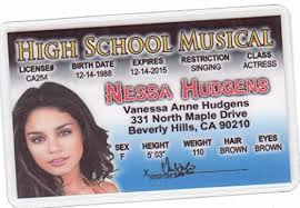 com Fans Novelty Hart Hudgens High Musical Drivers Of d For License Nessa Games Vanessa Fake amp; I School Toys Identification Amazon