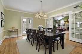 shutterstock 51223114 these large french doors lead you from a living e to the dining e the dark table and chairs