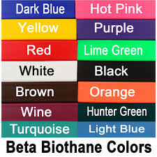 Colors That Match Turquoise English Breast Collar Made From Beta Biothane Mix N Match