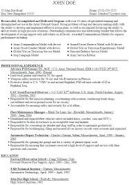 Military Resume Builder 2018 Enchanting Army Resume Example Army Resume Examples Army Resume Example Sample