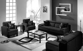 Modern Living Room For Apartment Modern Small Apartment Brown Floor Tiles Floating Big Tv White