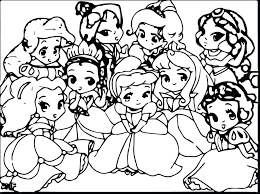 Cute Princess Coloring Pages Keralapscgov
