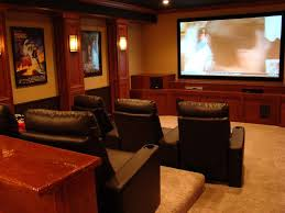 basement theater ideas. Wall Mounted Rectangle Black Frame Screen Basement Movie Theater Ideas Home Room Decor Cone Mount Lamp White Square Table Hidden