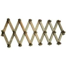 Expandable Wooden Coat Rack Wooden Wall Mounted Peg Board Collapsible Expandable Trellis Coat 10