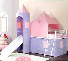 Loft Bed Tent Girls Loft Bed With Slide Princess Tent Canopy Castle ...