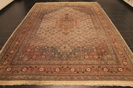 nice hand knotted oriental rug indo tabriz 248 x 365 cm made in