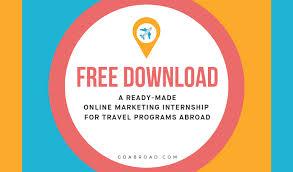 A Free Online Marketing Internship Syllabus For Travel