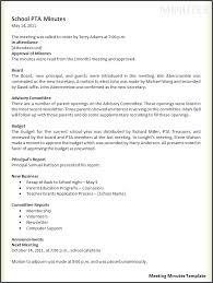 Pta Templates Template Meeting Minutes Template Free Printable Word Templates Pta